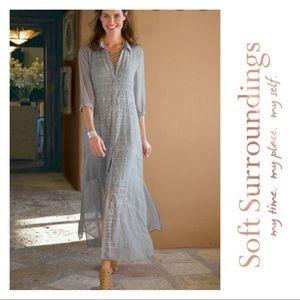 Soft surroundings Ibiza duster / dress